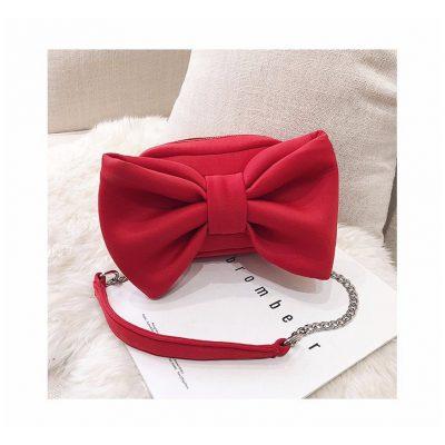 Red Big bow design womens mini bag