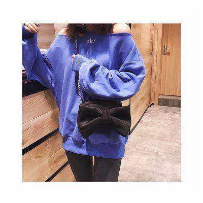 Black Big bow design womens mini bag