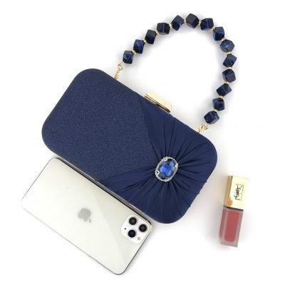 Blue Wedding evening clutch purse
