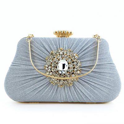Rhinestone embellished wedding party bag