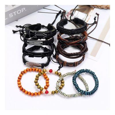 Unisex leather bracelets