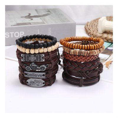 Beaded leather bracelets