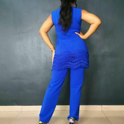 Womens Blue 2 Piece Set