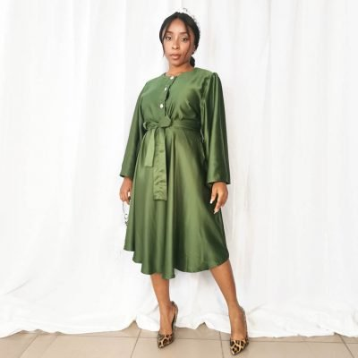 Green Sation Womens Party Dress