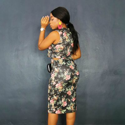 Floral Sleeveless Party Women's Dress