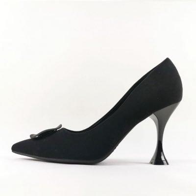 Black Mid Heel Women Work shoe