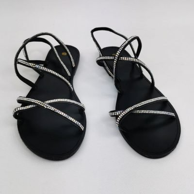 Black Flat Casual Sandals for women