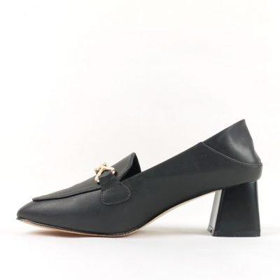 Black Mid Heel Shoes