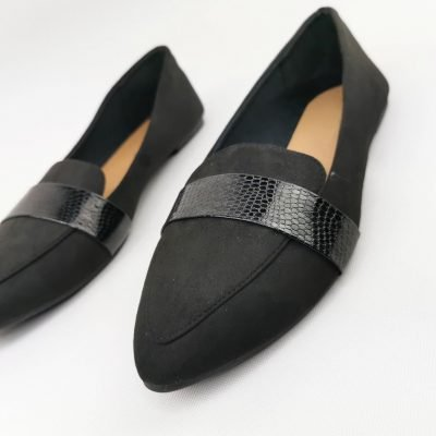 Black flat women shoes