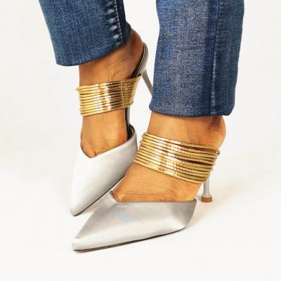 Low heel Womens Party Mules