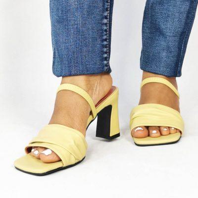 Block Heel Strappy Womens Sandals