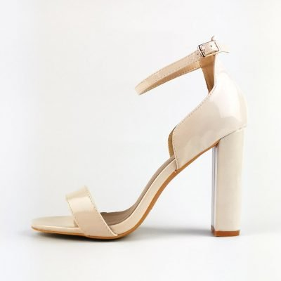 Nude Block Heeled Sandals