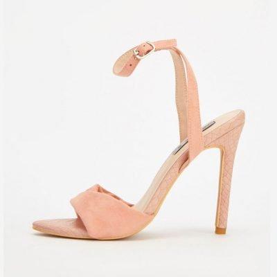 Blush high Heeled Sandals