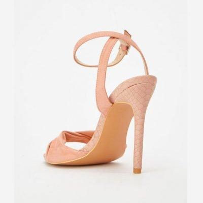 Blush high heel sandals