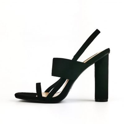 Black Block Heeled Sandals