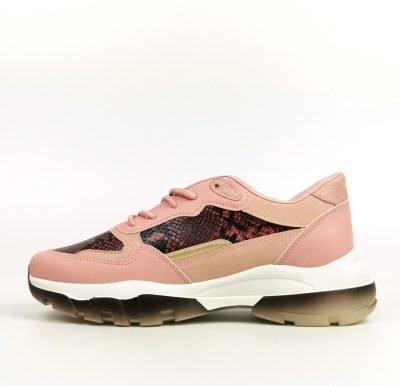 Rose Animal Print Mix Sneakers – Sojoee.com