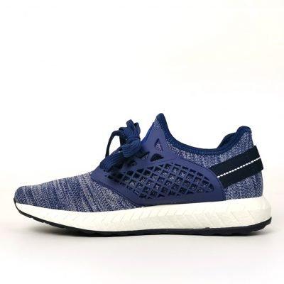 Blue Mesh Design Padded Trainers - Sojoee.com