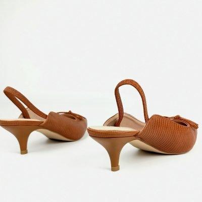 low heel sling back work shoe