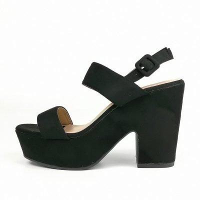 black wedge womens sandals