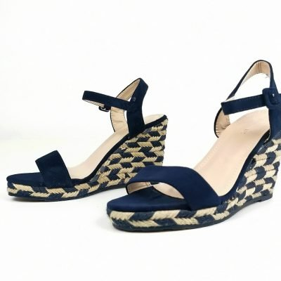 Checked Design Wedge Sandals - Sojoee.com