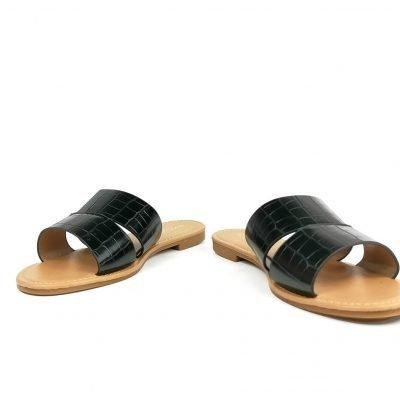 Big size black slippers