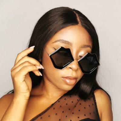 Black Love Lip Shape ladies sunglasses