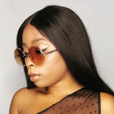 Brown Round Fashion Sunglasses for Women
