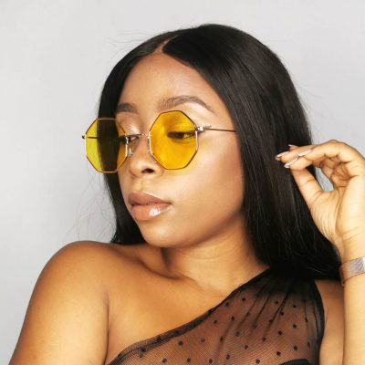 Yellow Vintage Sunglasses for women