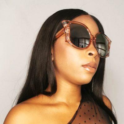 Big frame stylish cat eyes women oversized sunglasses