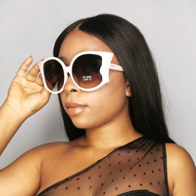 White Plastic Fashion Sunglasses Eyewear for women