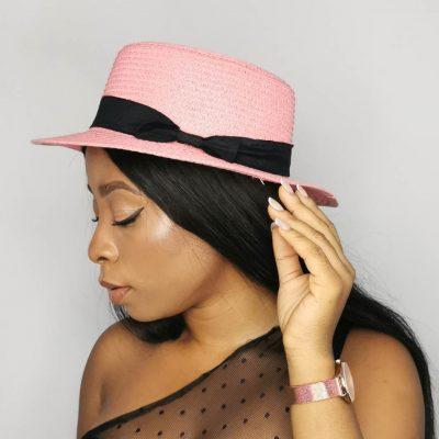 Pink Beach hats for women