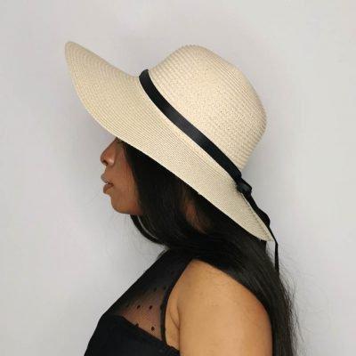 Beige Oversized Beach Hats For Women Large Straw Hat