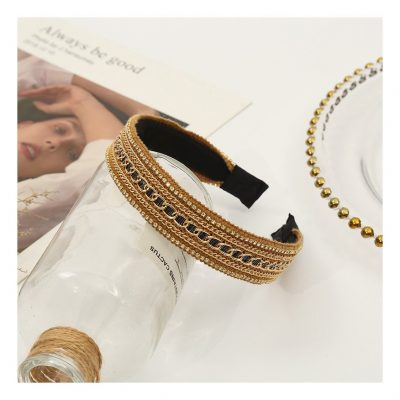 Gold hairbands for women