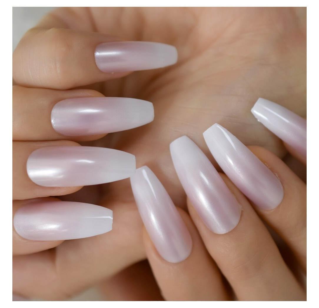 Two tone gradient Press On Fingernails