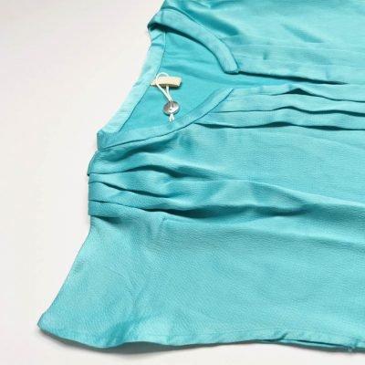 Silk Satin Pleated Womens Top