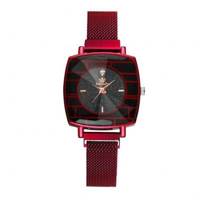Womens red wrist watch