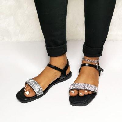 black sandals for ladies