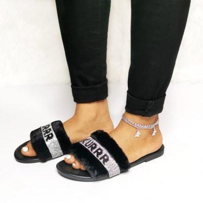 Women's Furry Faux Fur Slippers