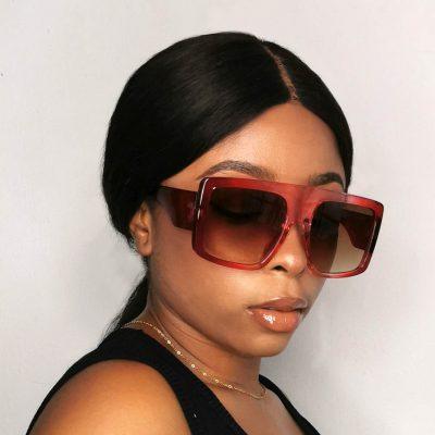 Big frame square sunglasses for womens