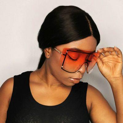 Big frame women sunglasses