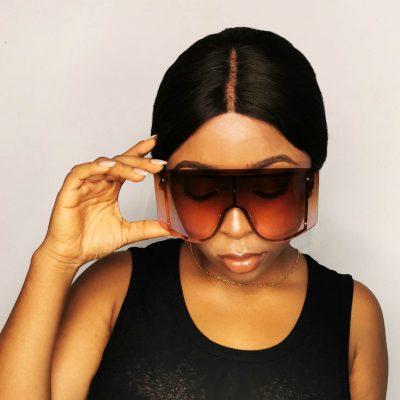 Big frame stylish women sunglasses