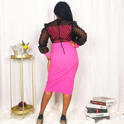 Pink office dress for women