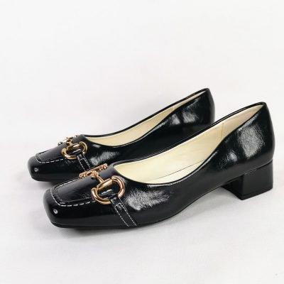 Block heel women's work shoes