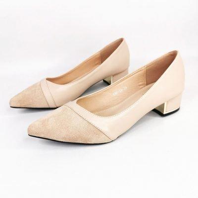 Low block heel shoes for women