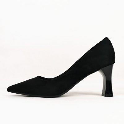 Black block heel womens work shoes