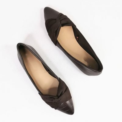 Brown flat office womens shoes